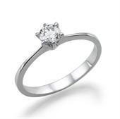 טבעת יהלום 0.3 קראט עם יהלומים צדדיים 0.14 קראט